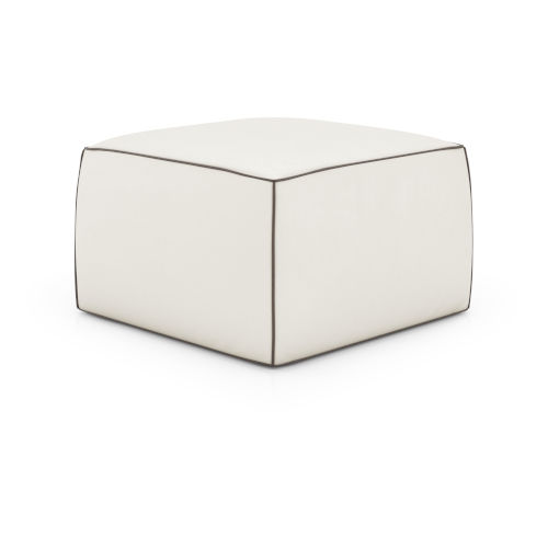 Pitt Soft Snow Leather Pouf