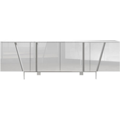 Mott Glossy White Sideboard