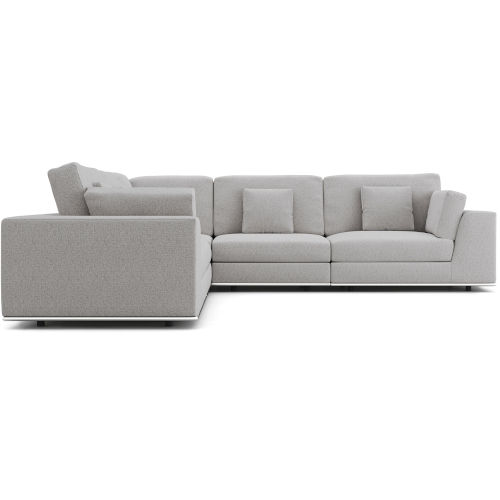 Perry Gris Fabric Two Arm Corner Sofa