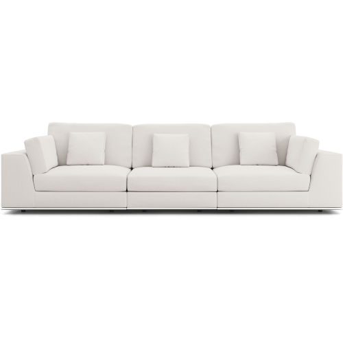 Perry Chalk Fabric Sectional Three Seat Sofa