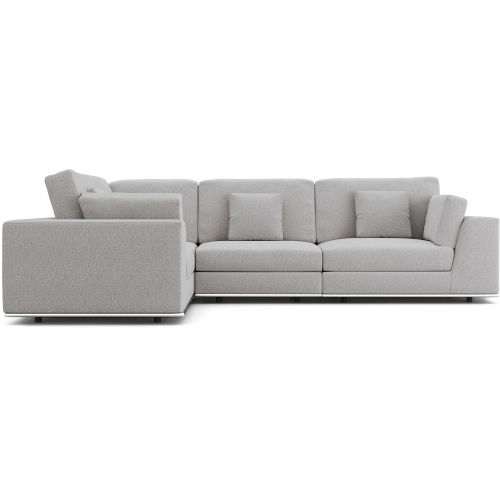 Perry Gris Fabric Two Arm Compact Corner Sofa