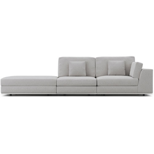 Perry Gris Fabric Sectional Sofa