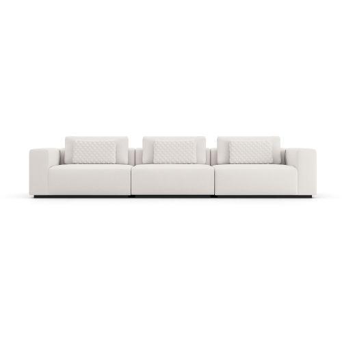Spruce Chalk Fabric Sectional Three Seat Sofa