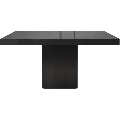 Beech Black Glass 59-Inch Dining Table