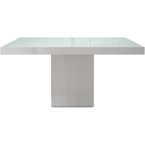 Beech White Glass 59-Inch Dining Table