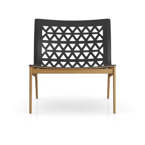 Elmstead Black Leather Lounge Chair