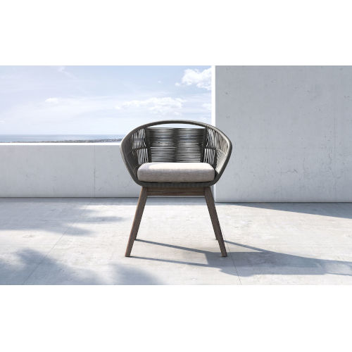 Jesper Dark Gray Cord Outdoor Dining Chair