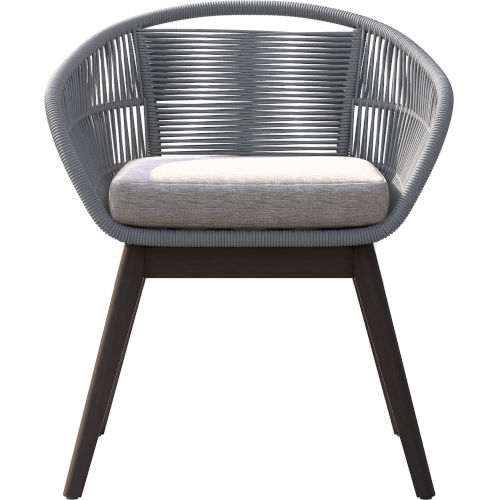Jesper Light Gray Cord Outdoor Dining Chair