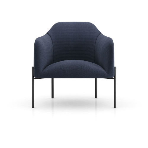 Tiemann Medieval Blue Fabric Lounge Chair