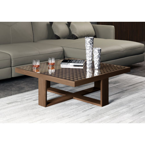 Leyton Walnut 35-Inch Coffee Table