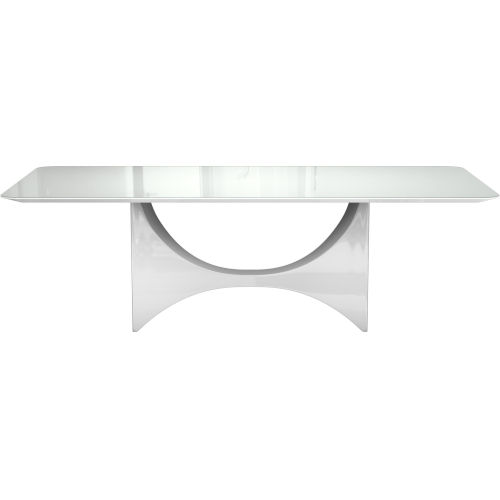 Camden White Glass Dining Table