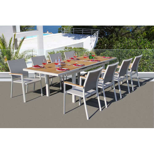 Essence Mouse Grey Outdoor Dining Set, 9-Piece