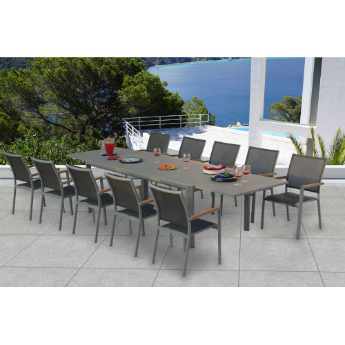 Essence Pewter Outdoor Dining Set, 11-Piece