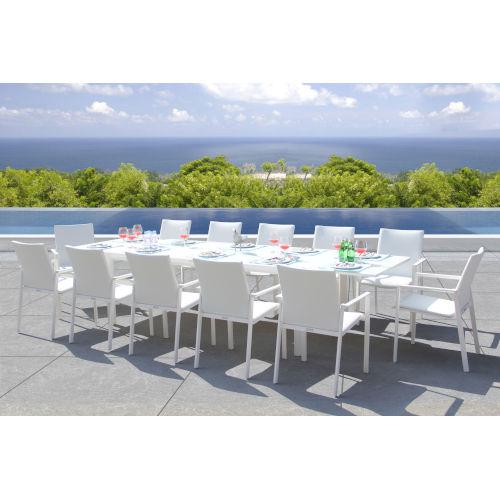 Ritz White Outdoor Dining Set, 13-Piece