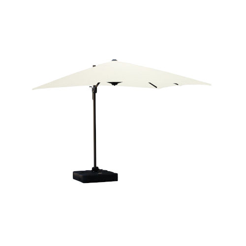 Isola White Outdoor Cantilever Square Parasol Umbrella