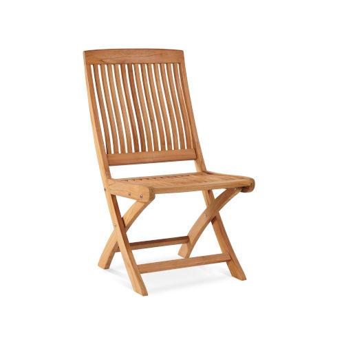 Devon Nature Sand Teak Teak Outdoor Folding Side Chair