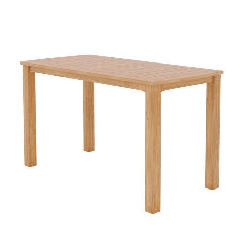 Mirador Natural Sand Teak  Outdoor Counter Height Table