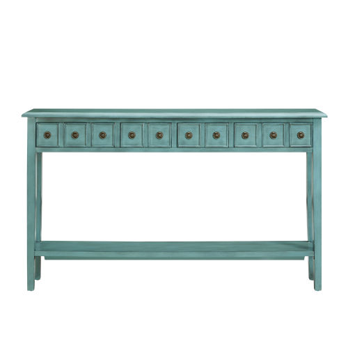 Sadie Teal Long Console