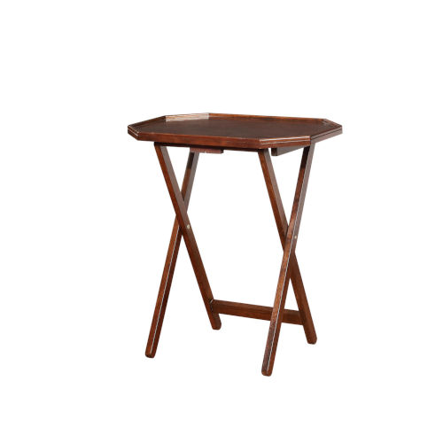 Layla Espresso Folding Tray Tables