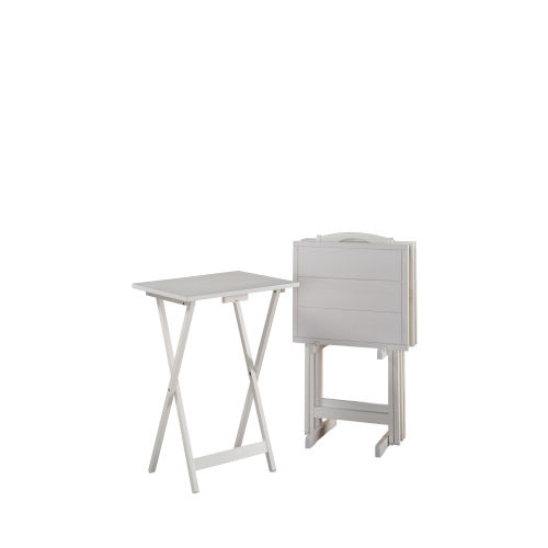Nora White Folding Tray Tables