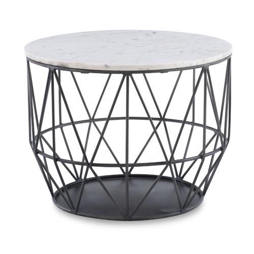 Eliana Gunmetal Wire Side Table