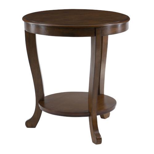 Aubert Hazelnut Brown Side Table
