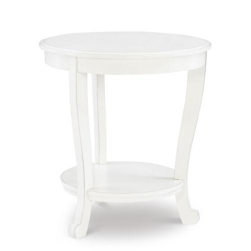 Aubert White Side Table