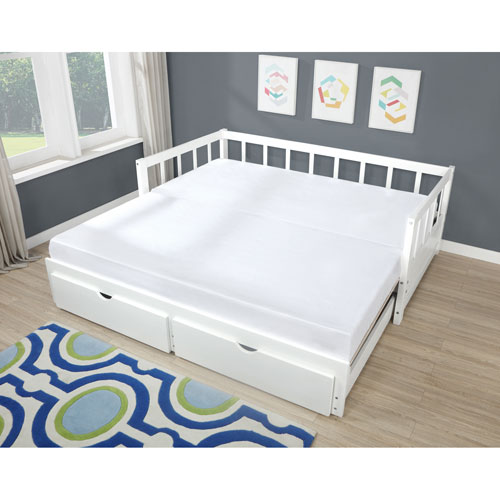 Hadley White Storage Trundle Daybed