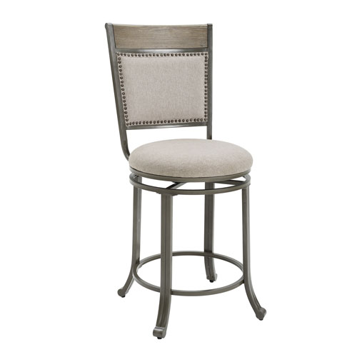 Franklin Pewter Swivel Counter Stool