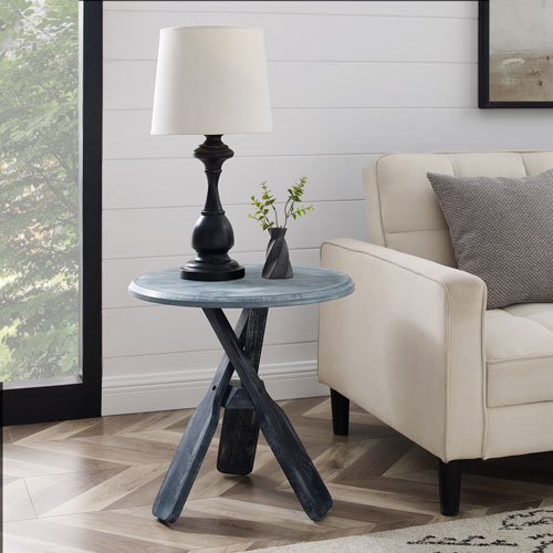 Omar Gray Round Side Table