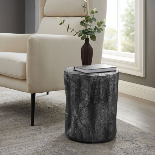 Hunter Antique Silver End Table