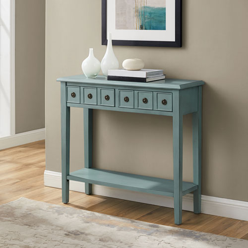 Aubrey Distressed Teal Console