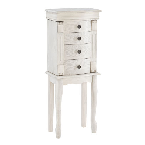 Rome Off White Jewelry Armoire