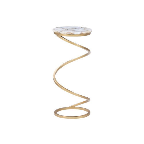 Milan Gray Agate Gold Base Side Table