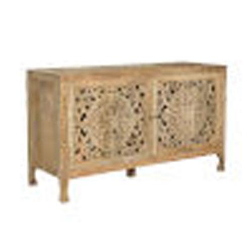 Silas Antique Brown Two-Door Cabinet