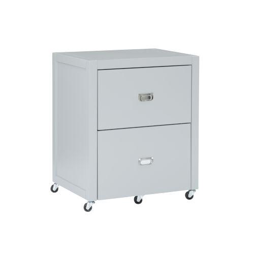 Peggy Gray Silver File Cabinet