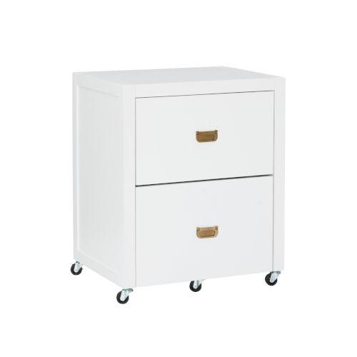 Max White Gold File Cabinet