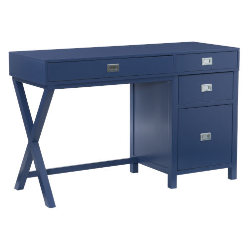 Max Navy Silver Desk
