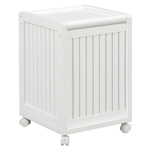 Abingdon White Laundry Hamper with Lid