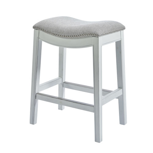 Zoey White 25-Inch Counter Height Stool
