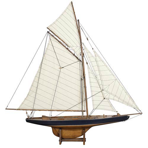 Americas Cup Columbia 1901 Small Model Ship