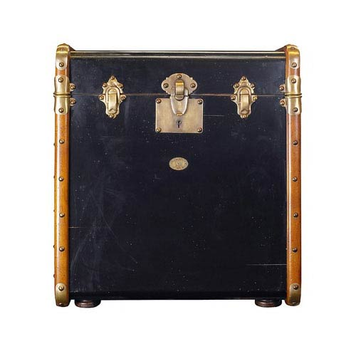 Black Stateroom Trunk End Table