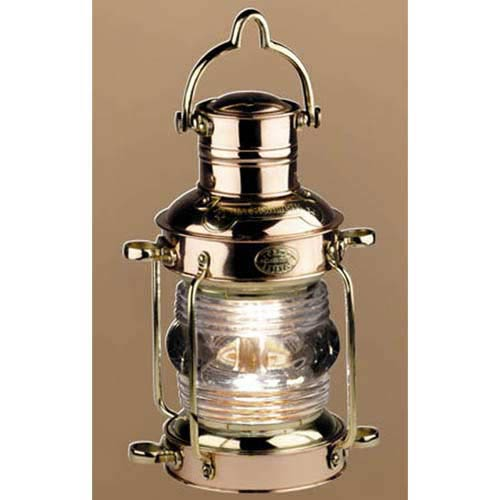 Brass and Copper Anchor Kerosene Lamp