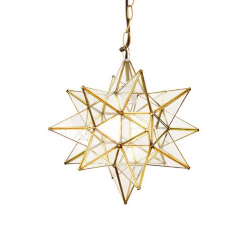 Brass 20-Inch Star Chandelier