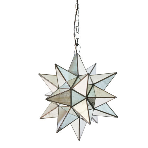 Antique Brass 20-Inch Star Chandelier