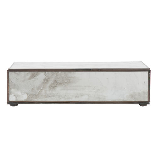 Antique Mirror 11-Inch Rectangular Decorative Box