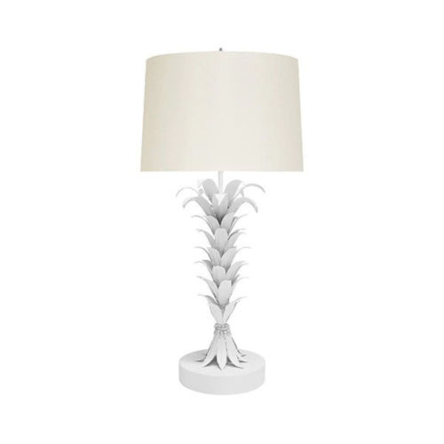 White Powder Coat Table Lamp