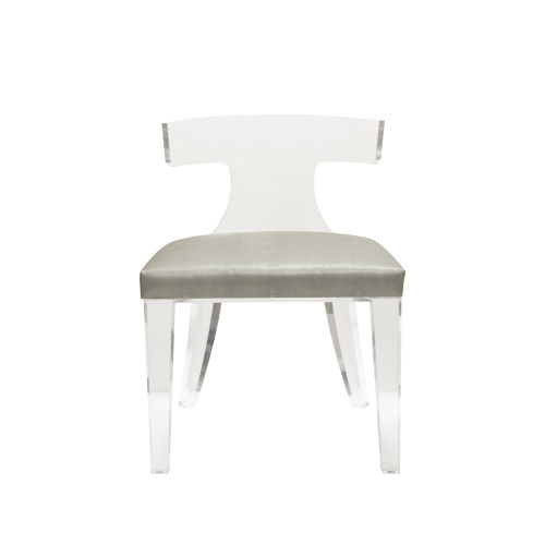 Grey Faux Shagreen Chair