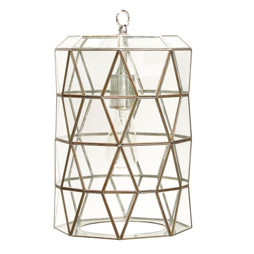 Brassand Clear Glass Pendant