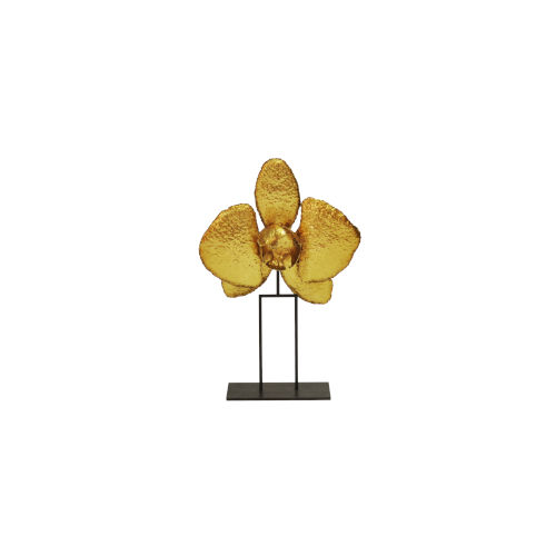 Gold Leaf 12-Inch Orchid Decorative Object